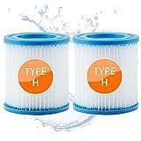 woejgo Filtros de piscina tipo H, filtros de piscina para Intex tipo H, cartucho de filtro para sustitución de limpieza, filtro de jacuzzi, cartuchos Easy Set Pool, 2 unidades