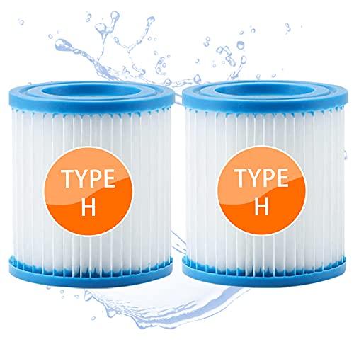 woejgo Filtro Cartuccia per Bestway Taglia H, Filtri Cartucce per Pompe, Filtro Spa per Piscina Tipo H Pool filter, 2 Pezzi