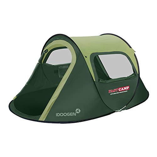 FASTCAMP Opera3 3-Person pop-up Tent for Picnic,Camping Tent (Green2)