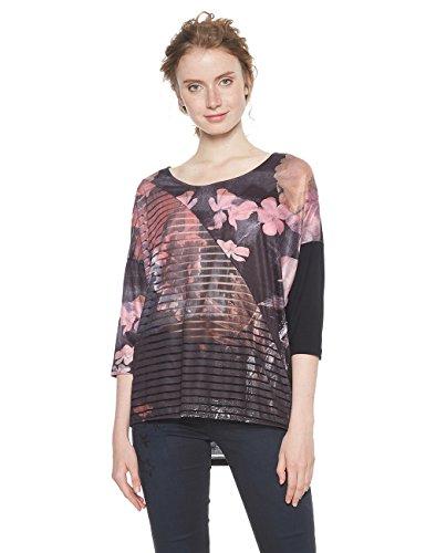 Desigual TS_belgica T-Shirt, (Rosa Glamour 3044), Medium Donna