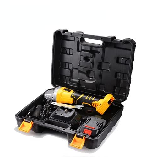 XDXDO Amoladora Angular Sin Escobillas para Trabajo Pesado Herramienta De Pulir De Metal Inalámbrica con 2 Baterías De 5.0Ah, 9800 RPM Muela Abrasiva 6 *, Adecuada para Amolar Y Cortar