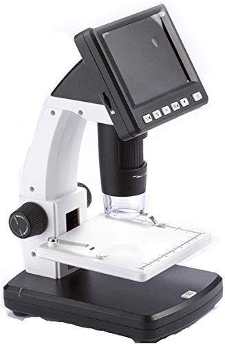 HYCQ Microscope Ultra-HD Portable avec écran de 3,5 Pouces, 500x Microscope USB, loupe électronique avec Prise - pour identifier des Cartes de Circuits imprimés, antiquités