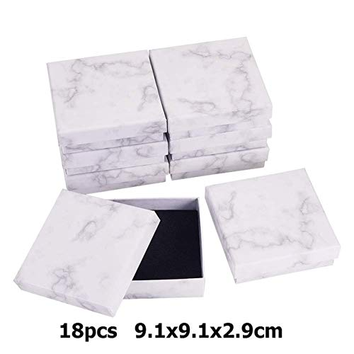 ZHS Marble Jewelry Box Necklace Bracelet Rings Carton Packaging Display Box Gifts Jewelry Storage Organizer Holder