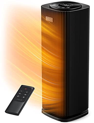 Dreo Space Heater with Remote, 2s Quick Heating, Quiet Oscillating Heater with Tip-Over and Overheat Protection, 12H Timer, LED Display with Touch Control, Portable for Office Room Indoor Use