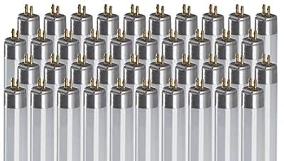 F14T5/841/ECO 14W 22 Inch T5 Fluorescent Light Bulb   4100K Cool White Medium Bi-Pin Base   1350 Lumens 85 CRI 36000 Life Hours   Instant/Programmed Start   40 Pack by GoodBulb