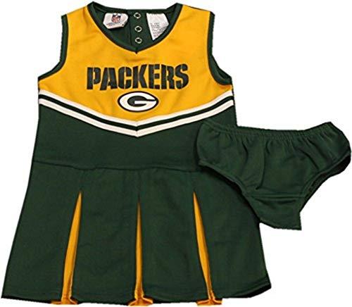 By Apparel Green Bay Packers Girls Cheerleader Uniform-10055-10056 (X-Small)