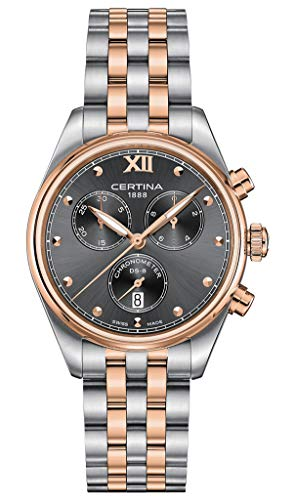 Certina Damen-Armbanduhr DS 8 34,5 mm Stahlgehäuse Quarz Analog C033.234.22.088.00