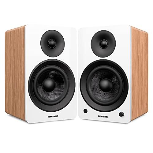 Fluance Ai61 Powered 2-Way 2.0 Stereo Bookshelf Speakers with 6.5