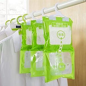 Paquete De 3 Armarios De Cocina Y BañO Colgantes HigroscóPicos Antimoho Desodorizante Bolsa Desecante A Prueba De Humedad