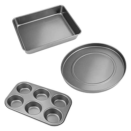 COSORI Baking Pan & Baking Set(CAO1-3AC), Nonstick Coating, BPA Free Pizza, Roast, Muffin Pan,3-Piece,Gray