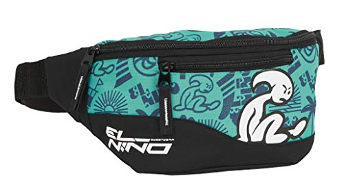 Safta Riñonera con Bolsillo Exterior de El Niño Beach Party, 230x90x120mm, verde/negro, m