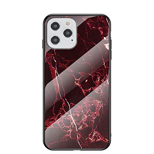 Funda para iPhone 12 Pro, carcasa de vidrio templado de policarbonato con TPU antigolpes, resistente a los arañazos, funda protectora para iPhone 12 Pro [patrón de mármol] funda para iPhone 12 Pro (6)