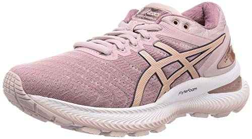 Asics Gel-Nimbus 22, Running Shoe Womens, Watershed Rose/Rose Gold, 37.5 EU