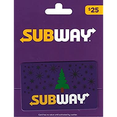 Subway Holidays Gift Card $25