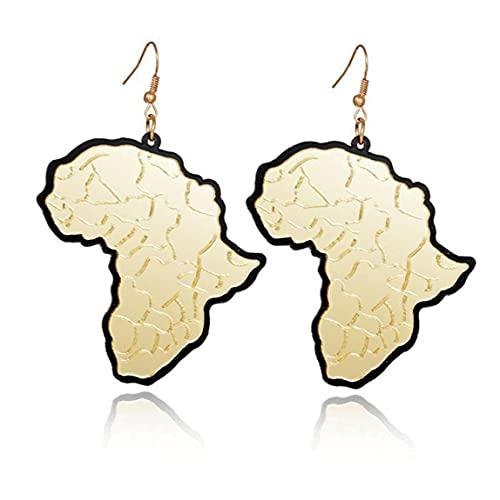 Ruluti 1 par Mujer Mujer A Pendientes DE COLGURA Africa Mapa ÁFRICA Forma Pendientes Pendientes Joyería