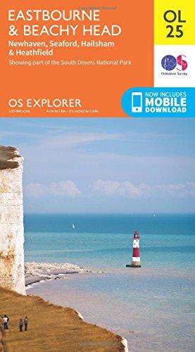 OS Explorer OL25 Eastbourne & Beachy Head (OS Explorer Map)