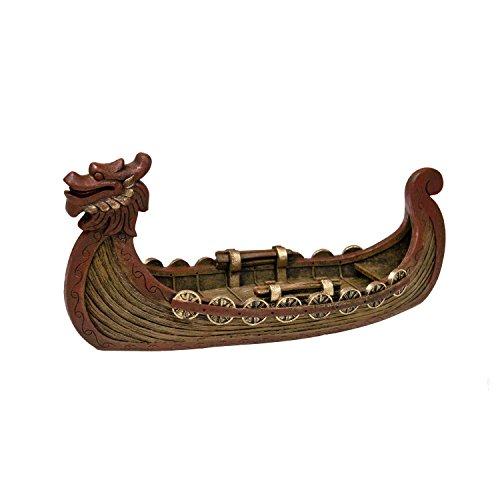 Blue Ribbon Dekoelement für Aquarien, Motiv: rotes Drachenboot