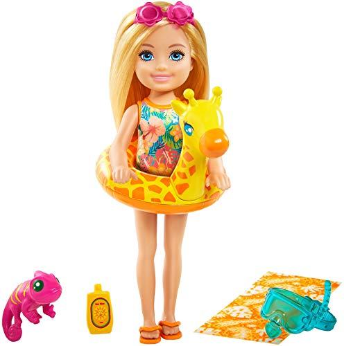 Barbie -Playset il Compleanno Perduto con Bambola Chelsea, Cucciolo, Gonfiabile e Accessori, Giocattolo per Bambini 3+ Anni, GRT81