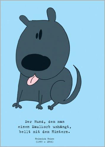 Helga Bühler in 5-delige set: De hond, die men een mand, humor spreukkaart