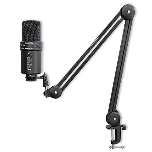 Samson G-Track Pro USB-Mikrofon + keepdrum MS138 Mikrofonarm Gelenk-Stativ