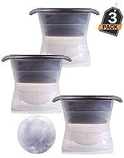 XXL ijsblokvorm set van 3, 6 cm diameter - voor enorme ijsballen, ronde ijsblokjesvorm/ijsblokjes