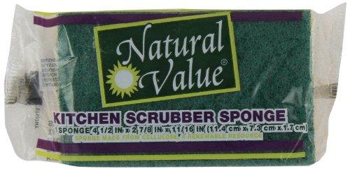 Natural Value Kitchen Scrubber Sponge, 1 ct