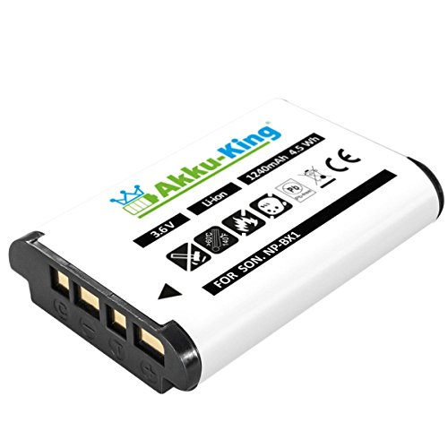 Akku-King Akku kompatibel mit Sony NP-BX1 - Li-Ion 1240mAh - für HDR-CX240 HD, HDR-AS10, HDR-AS100VR, Cyber-Shot DSC-HX50, HX300, HX60, RX100, FDR X1000