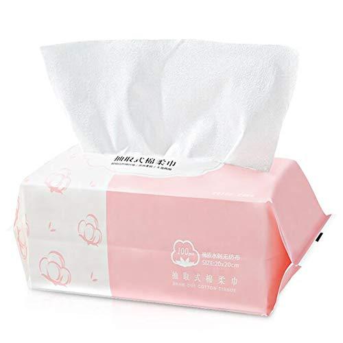 DALL Wegwerp Gezicht Handdoek Make-up Verwijder Gezichtsreiniging Katoen Weefsel Nat Droog Dual-use Katoenen Pads Goede Flexibiliteit 100 Stks