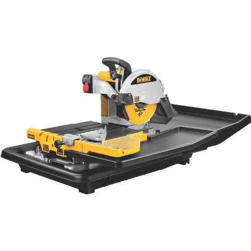 DEWALT Wet Tile Saw, 10-Inch, 1.5-HP (D24000)