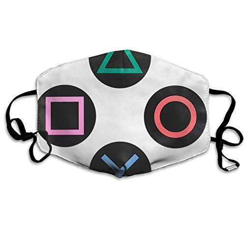 jhgfd7523 Mundbedeckung Gesichtsabdeckung Spielen mit Playstation Controller Tasten Waschbar Mundabdeckung Wiederverwendbarer Mundschal Gesichtsschal für Kinder Erwachsene
