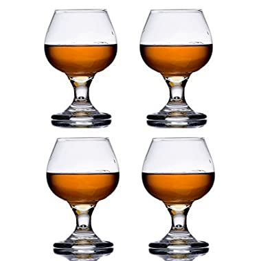 5.5 oz Brandy Glass Libbey 3702 Embassy Snifter or Cocktail Set of 4 w/ Pourer