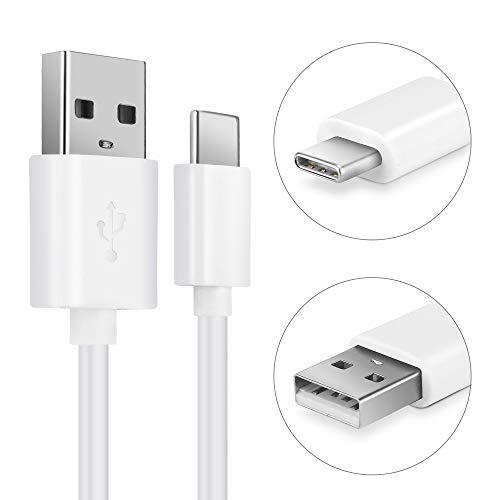 CELLONIC® USB Kabel 1m kompatibel mit Vernee Apollo/Apollo X/Apollo Lite/Mars/Mars Pro 4G / X / X1 / X2 / V2 Pro / M8 Pro Ladekabel USB C Type C auf USB A 2.0 Datenkabel3Aweiß PVC