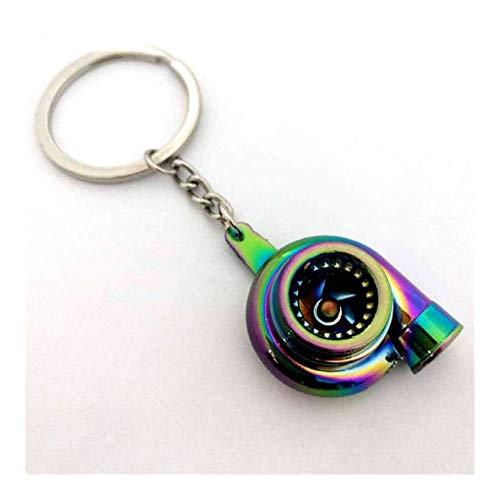 Llavero Creativa de coches Turbo Llavero multicolor de la aleación de sonido turbocompresor llaveros for las mujeres de los hombres llavero regalos del coche bolsa de anillo pendiente de la llave Únic