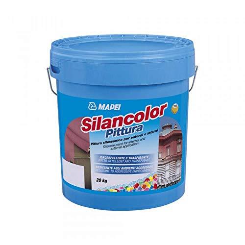 Pittura silossanica per esterni ed interni 5kg Silancolor Pittura Mapei - Colore: BIANCO
