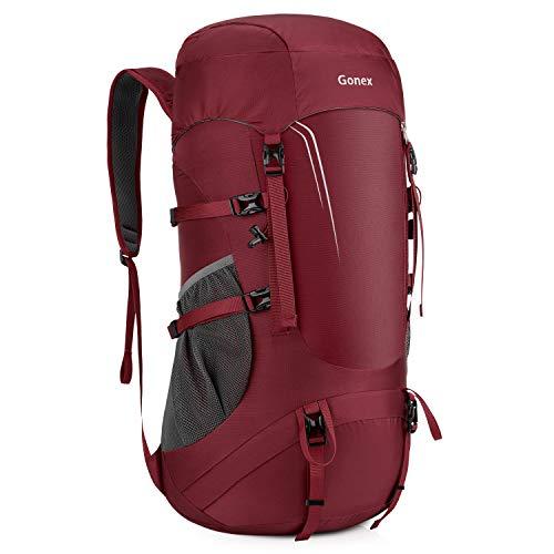 Gonex Gonex-GX068C Packable Travel Backpack, Lightweight Dackpack for Hiking, Camping/Travelling, 45l, Garnet