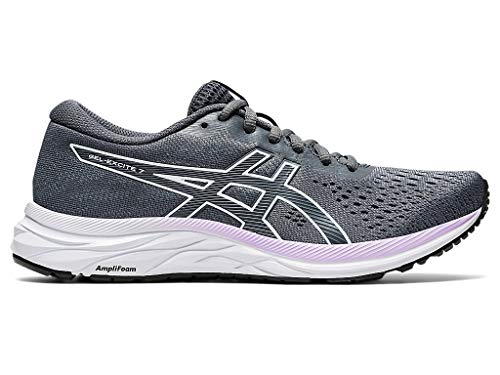 ASICS Women's Gel-Excite 7 Running Shoes, 7.5, Carrier Grey/White