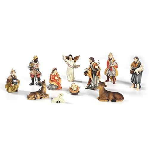erticvtiu LINhuahua Nativity Set, Traditional Nativity Scene, Decorative Nativity Figurines Set for Christmas, Toddler Play Sets,