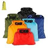 Waterproof Dry Bag Backpack, 6 Pack Gym Bag Dry Sacks Lightweight Storage Bags, Roll Top Sack Travel Duffel Bags Keeps Gear Dry for Rafting Boating Camping Kayaking Swimming Hiking Fishing