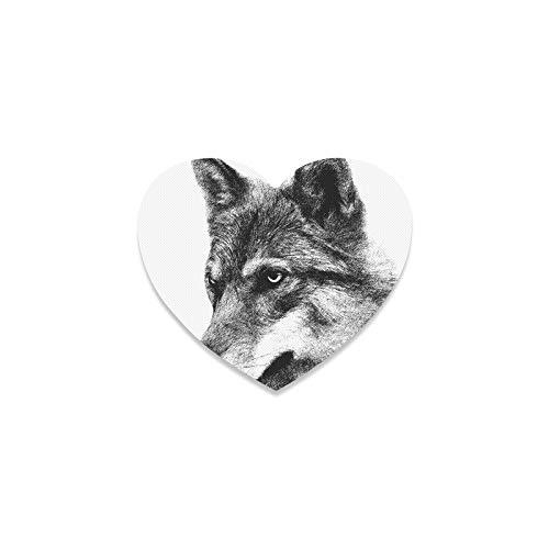 Posavasos de escritorio con diseño de lobo severo, posavasos únicos para bebidas, taza en forma de corazón para bebidas al aire libre, posavasos para apartamento, cocina, sala de bar, decoración