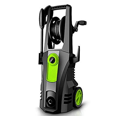 TEANDE 3500 PSI Electric Pressure Washer, 2.60 GPM 1800W Power Washer with Rolling Wheels (Green)