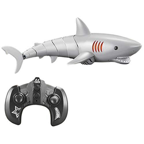 HEITIGN 2.4G 5CH Fernbedienung Simulation Hai Spielzeug, Lebensechtes Hai Boot Spielzeug, Wasserdicht Lustig Unter Wasser Schiff RC Boot Modell Pädagogisches Stammspielzeug Geschenk