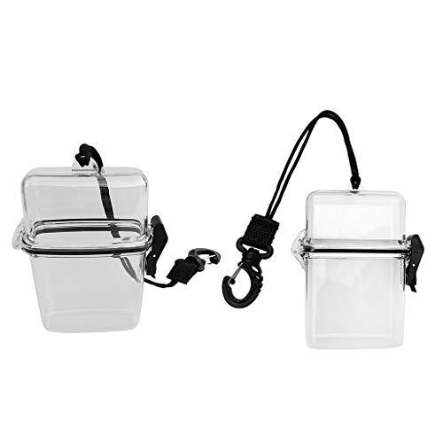 MOUNTAIN MEN 2pcs Impermeable Clip Box Recipiente en Lugar seco for el...