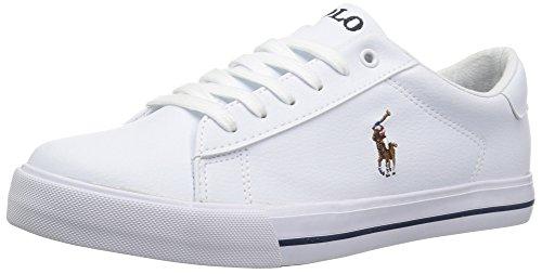 Polo Ralph Lauren Kids Unisex-Kid's Easton II Sneaker, White Tumbled Multi pop, 13 Medium US Little Kid