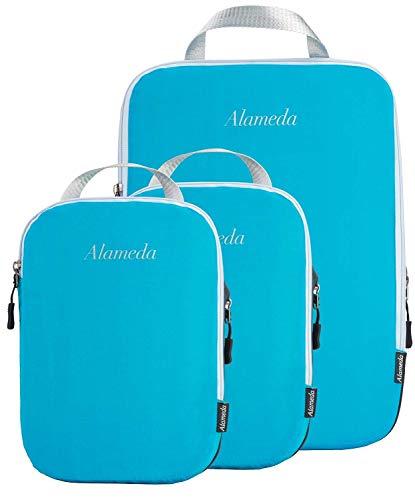 Alameda Cubos de embalaje de compresión para maletas y mochila,Juego de bolsas de embalaje organizador de viaje