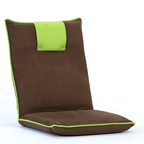 KFXL yizi Chaise de dossier pliable de fenêtre de baie de lit/chaise de sofa confortable démontable molle/salle de séjour chaise de plancher occasionnelle économiseuse d'espace (3 couleurs faculta