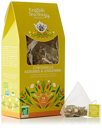 English Tea Shop - Lemongras Ingwer & Zitrusfrüchte, BIO, 15 Pyramiden-Beutel in Papierbox