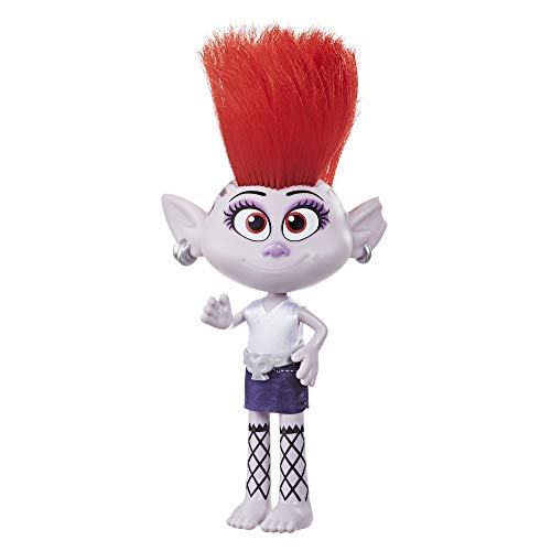 Trolls DreamWorks Stylin' Barb Fashion Doll with Removable Dress and Hair Accessory, Inspired World Tour, Girls 4 Years and Up