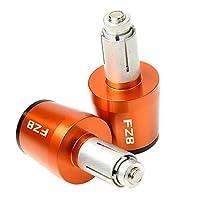 オートバイのバーエンド CNC22MMハンドルバーグリップハンドルバーキャップエンドプラグ ヤマハFZ82011 2012 2013 2014 2015 2016 2017に適しています (Color : Orange)
