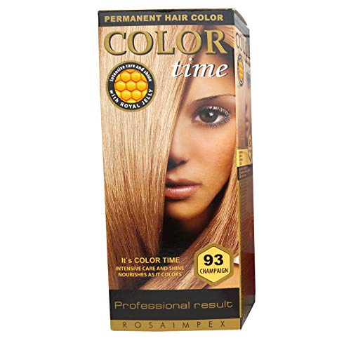 Color Time Haarfarbe Permanent, mit Gelée royale, 93 Champagner