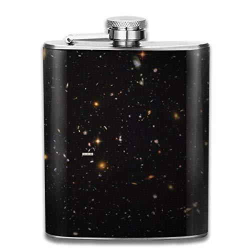 Rundafuwu Frasco para Licor, The Universe zv Stainless Steel 7oz Hip Flask